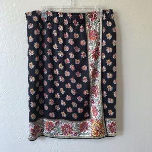 Loft Floral Wrap Skirt NWT
